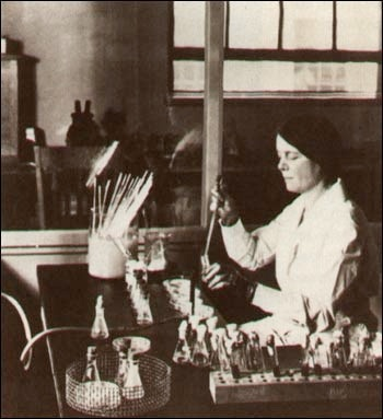 A photograph of Dr. Ida A. Bengtson, the first woman to be hired as a bacteriologist in the Hygienic Laboratory.
