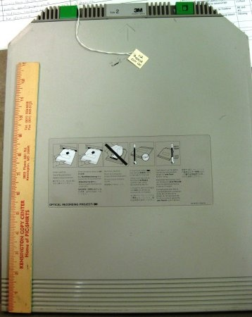Photo of a 3M Optimem 1000 Optical Disk Cartridge (WORM) front