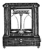 illustration of an antique analytical balance