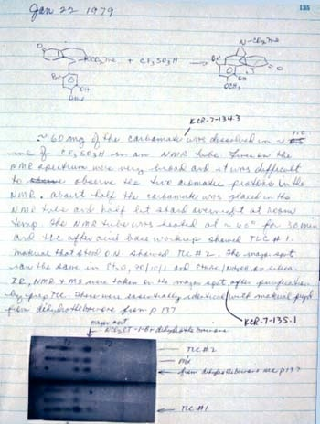 A Page from Dr. Rice's Laboratory Journal