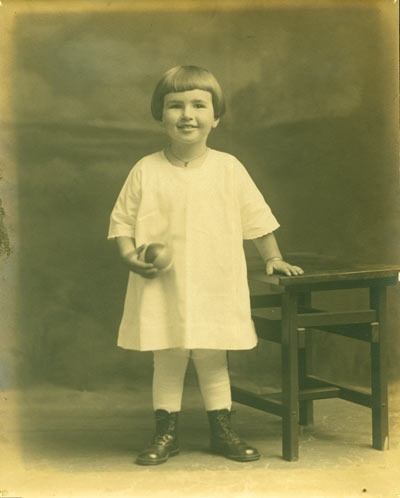 Thressa Campbell at three.