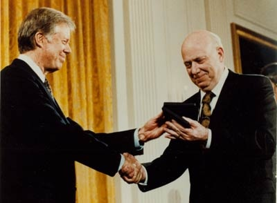 Earl receives a National Medal of Science from President Carter
