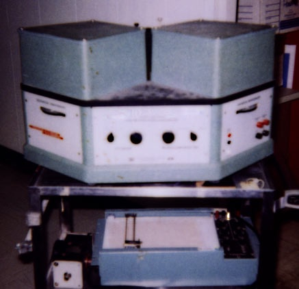 Photograph of a spectrophotofluorometer